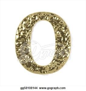 gold-font-number-0_gg58108144